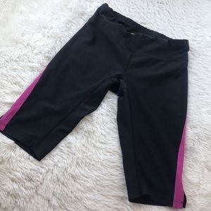 Lucy Black Cropped Athletic Shorts